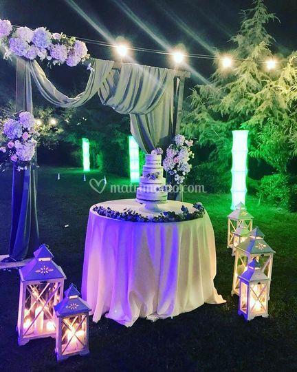 Wedding cake pronta al taglio