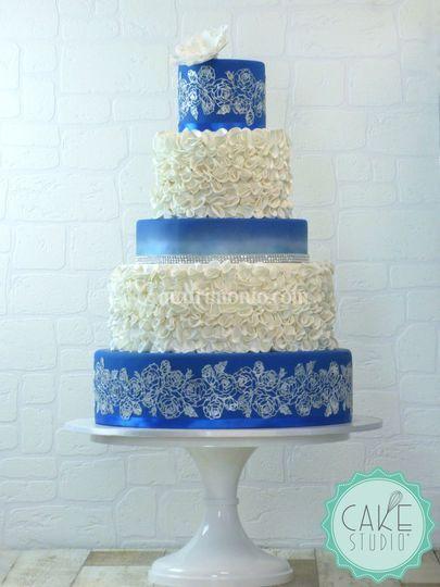 Wedding cake bluette e argento