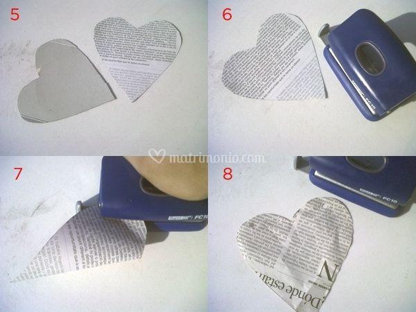 Ghirlande di cuori di carta per decorazioni nuziali for Ghirlande di carta