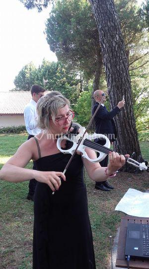 Con il violino elettrico