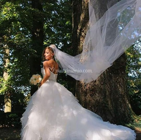 Sposa nel parco