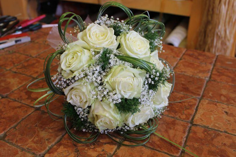 Favorito Bouquet sposa bianco di Fioreria La Magia del Fiore   Foto 4 CT33