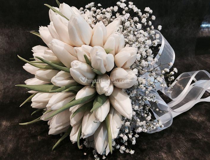 Buoquet tulipani bianchi