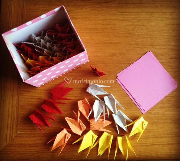 Gru origami giapponesi