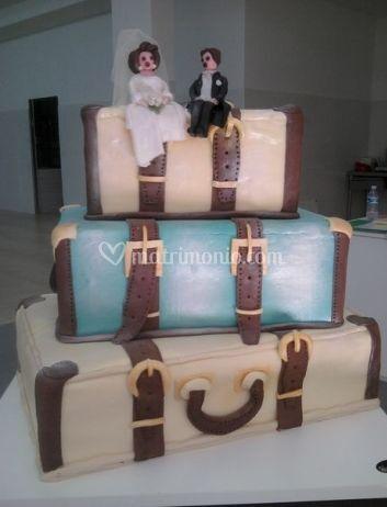 Torte nuziali forma di bagagli
