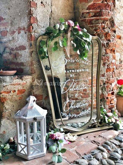 Specchio scritto a mano