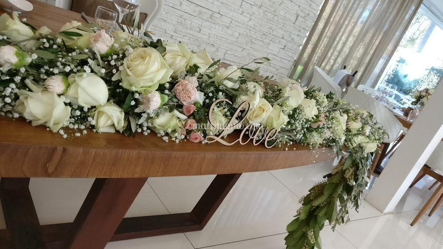 Torchon tavolo sposi