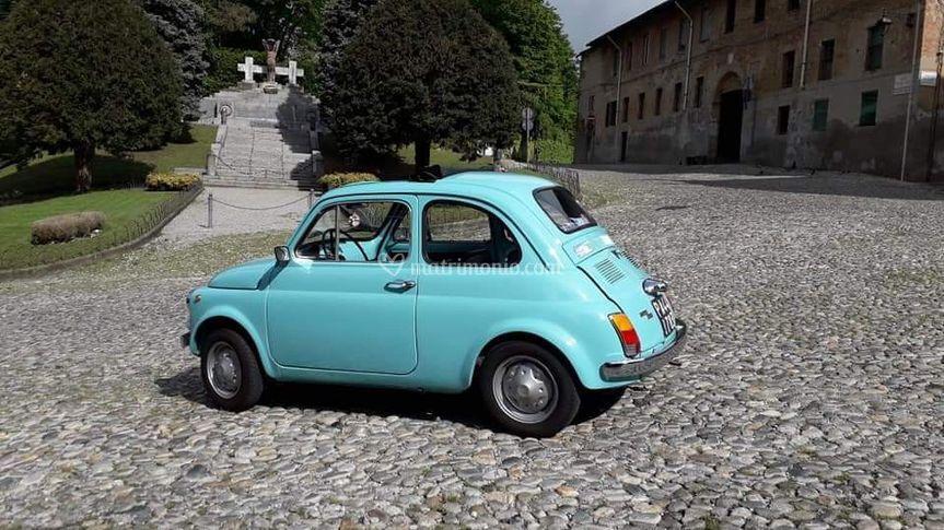 Fiat 500 R Turchese farfalla