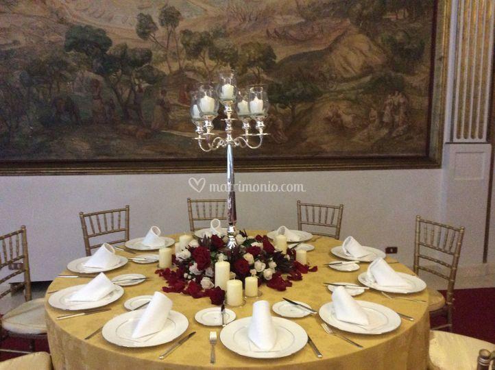 Tavolo decorato