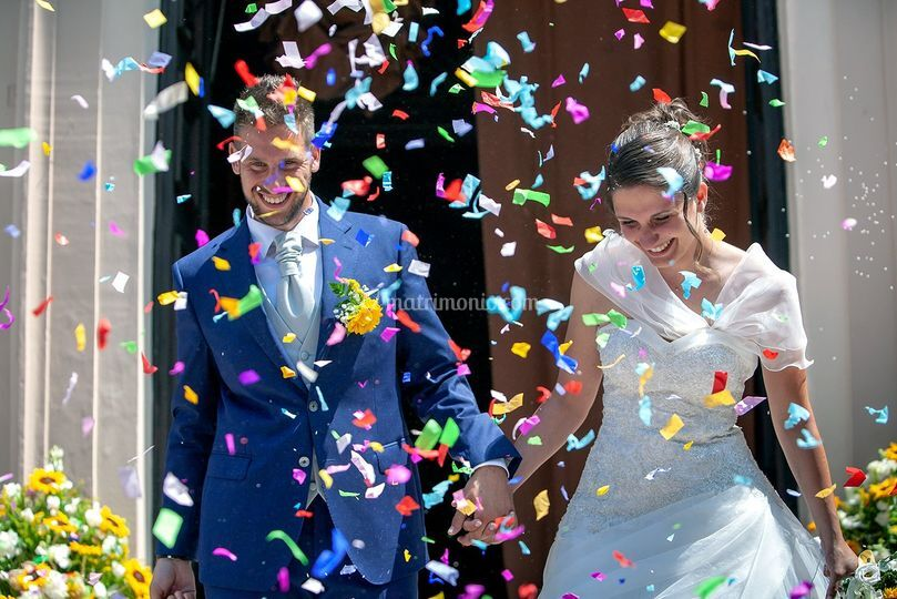 Wedding uscita chiesa