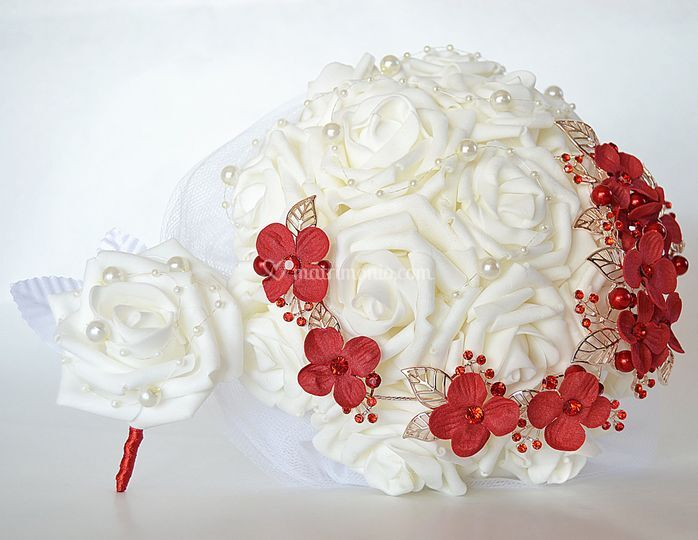Bouquet di rose in schiuma