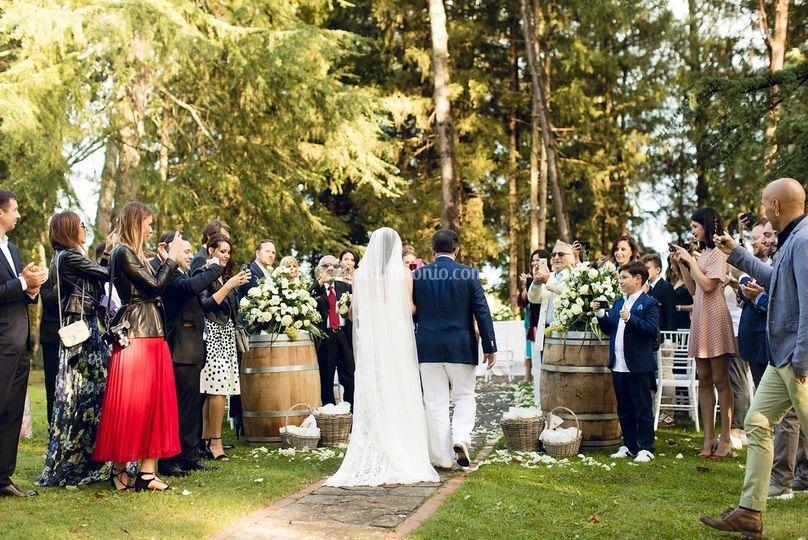 Celebrazione nel parco secolar