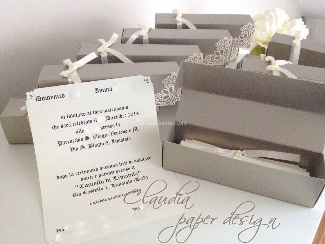 Partecipazioni Matrimonio Pergamena.Invito Tipo Pergamena Di Claudia Paper Design Foto 45