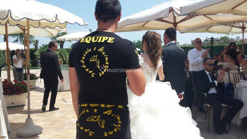 L'arrivo sposi in struttura
