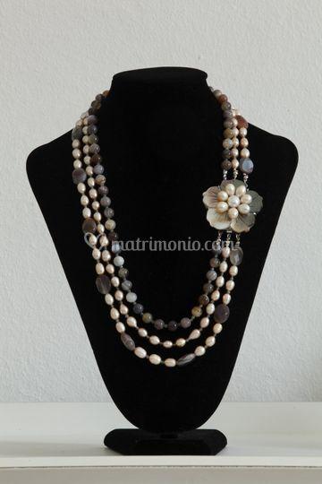 Perle di fiume e agata botwana