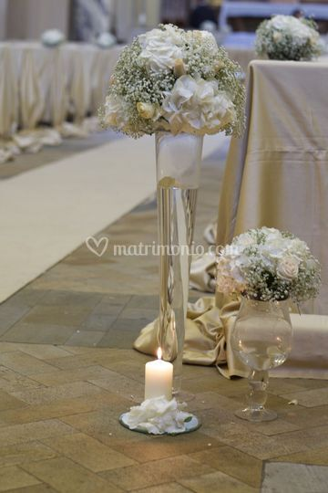 Allestimento Light and Candles