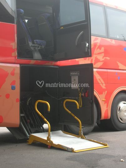 Pedana per trasporto disabili