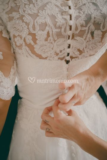 Bride dress - detail