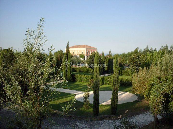 Il parco con villa