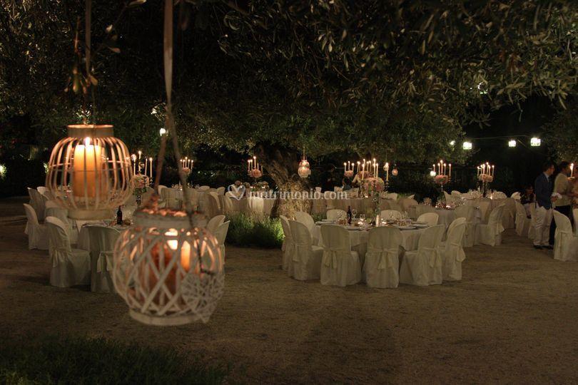 Le lanterne con candela