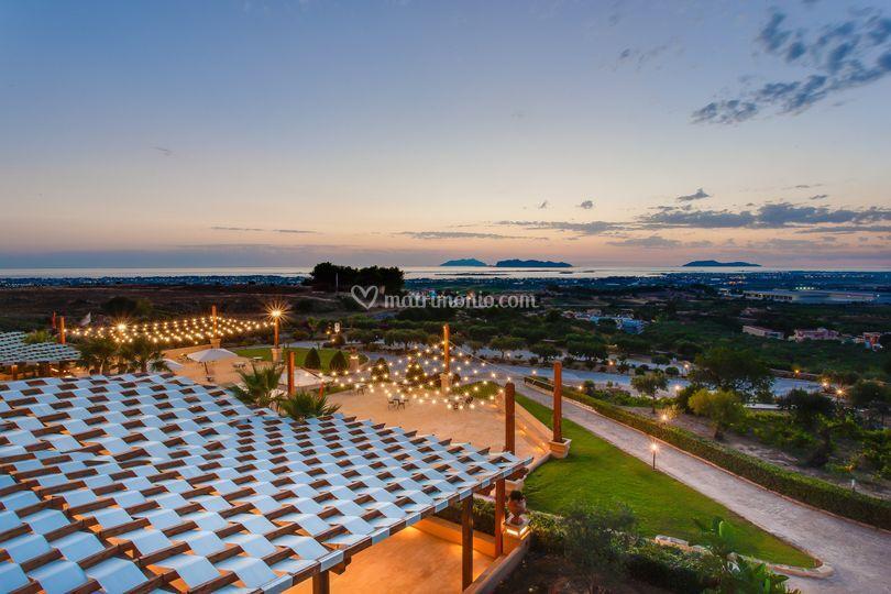 Giardino Belvedere al tramonto