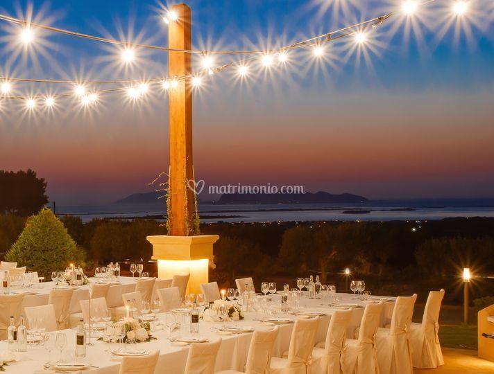 Cena con vista isole