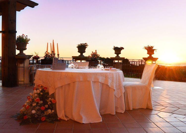 Tavolo Sposi terrazza