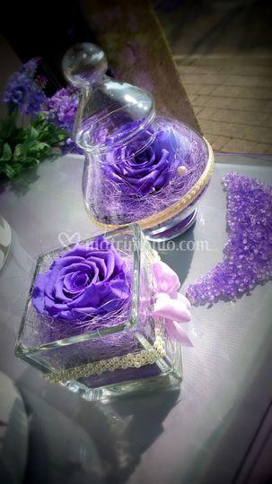Rose stabilizzate viola