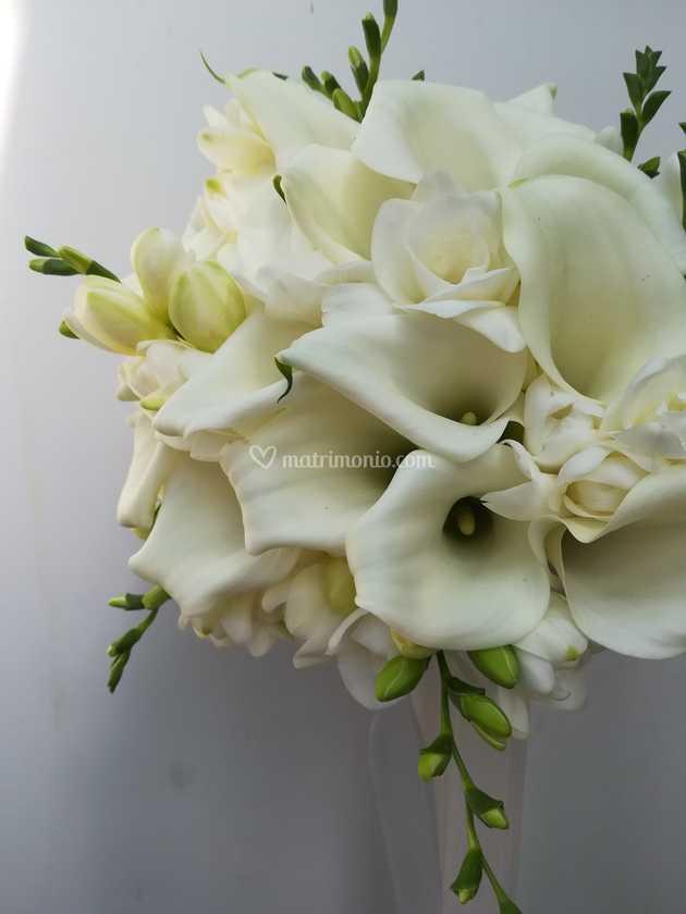 Bouquet Sposa Fresie.Bouquet Di Calle E Fresie Di Tagliabue Il Verde Fotos