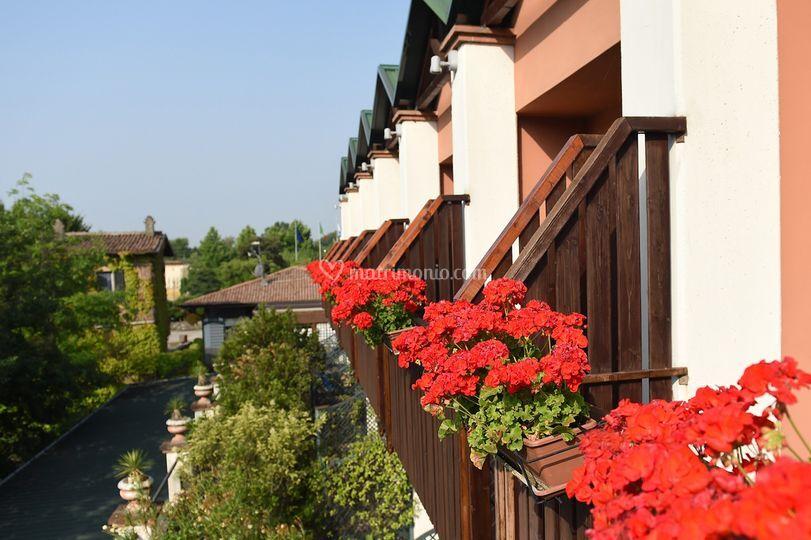 Balconi vista giardino