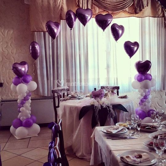 Arco balloon sposi
