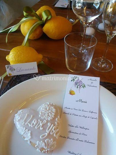Matrimonio tema limoni