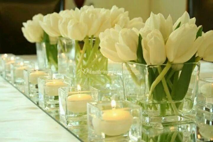 Fiori e candele matrimonio