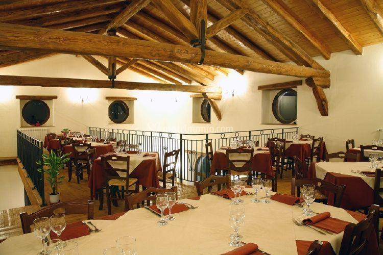 Il ristorante, sala superiore