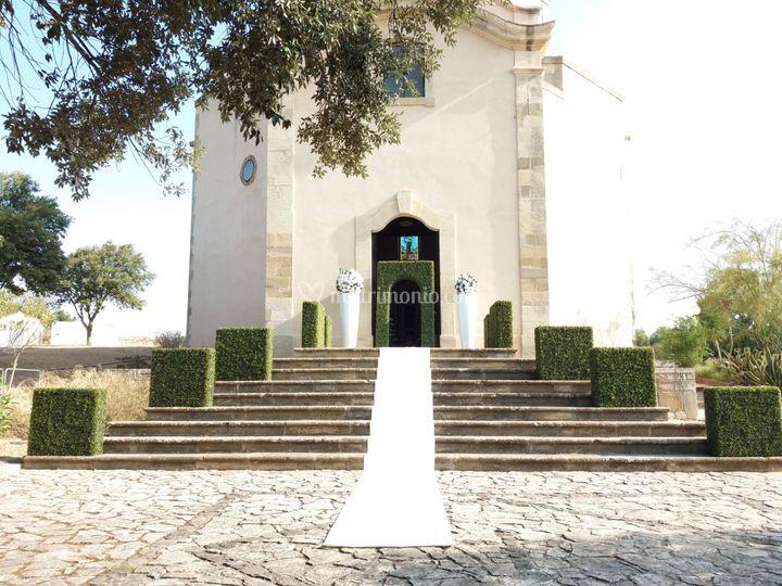 Allestimento chiesa esterno