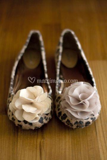 Chiffon flower clip shoe