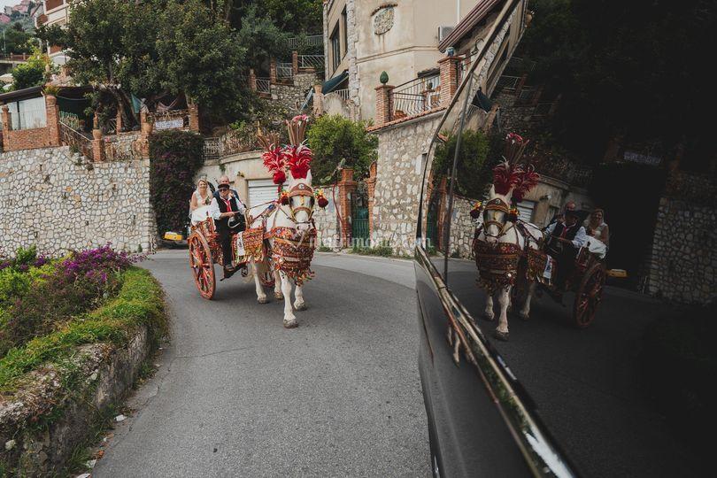 Carretto siciliano a Taormina