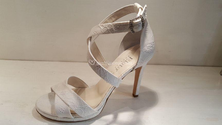 Sandalo pizzo 10cm