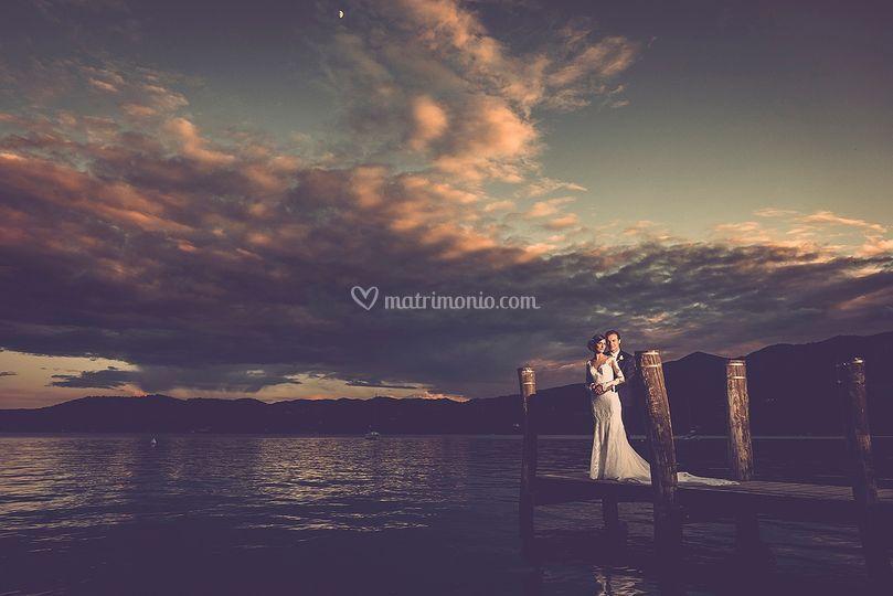 Il tramonto al lago d'Orta
