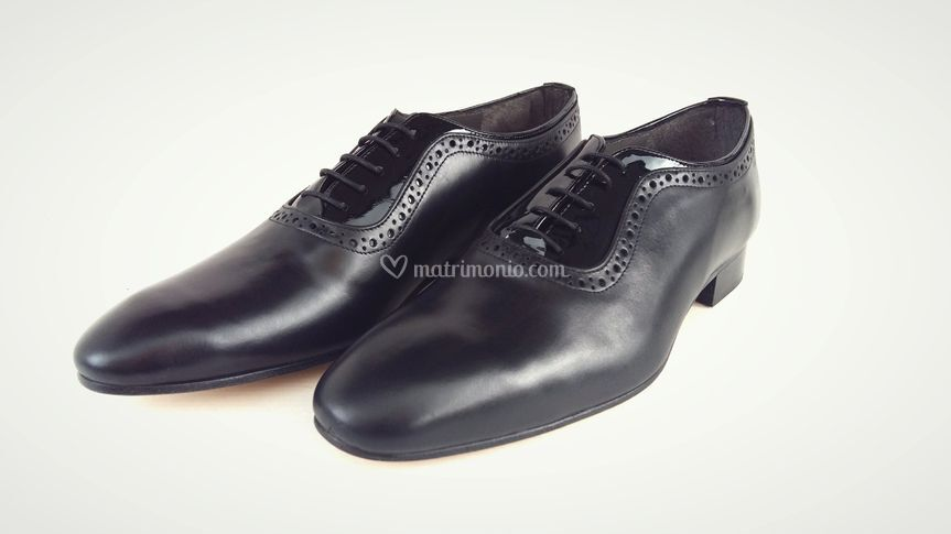 Uomo oxford brogue pelle nera