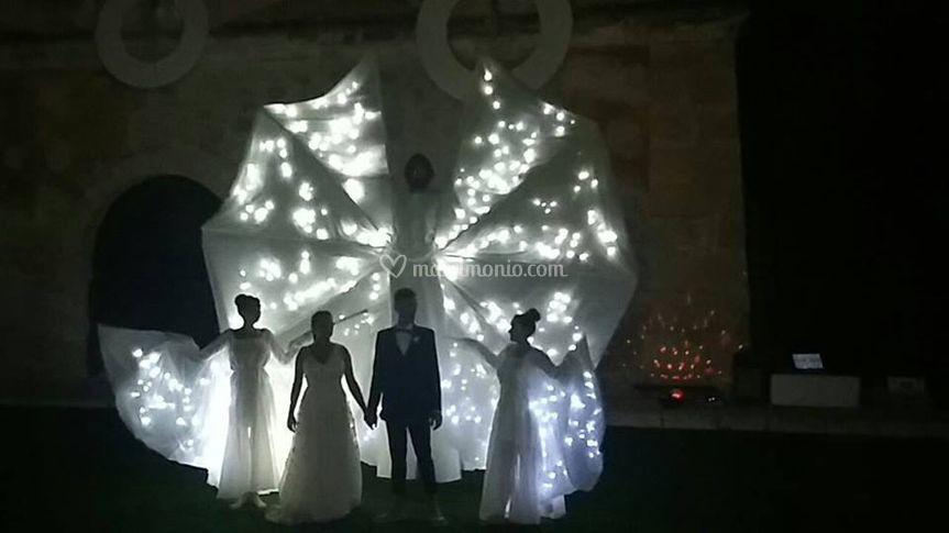 Trampolieri Luminosi per Sposi