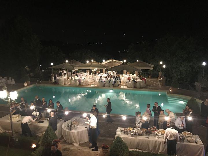 Cena bordo piscina