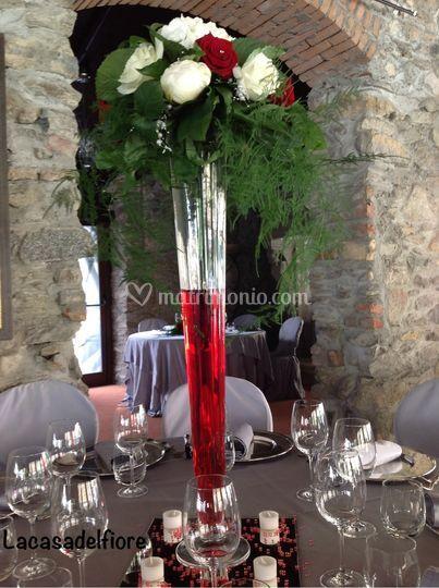 Centro tavola con vaso cielo