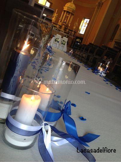 Scenografia con candele