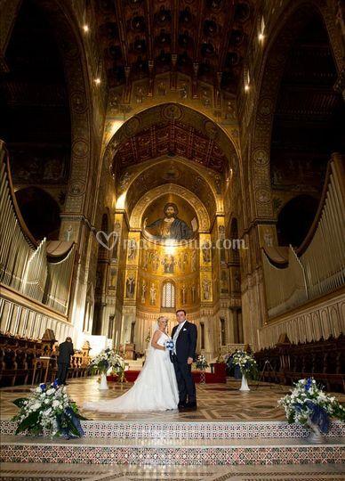 Bella foto in chiesa Monreale