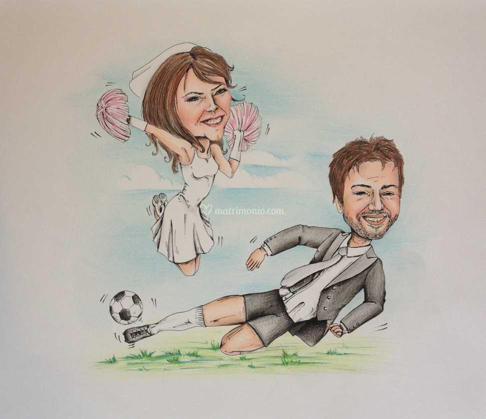Partecipazioni Matrimonio Caricature.Caricature Per Partecipazioni Di Creartslab Foto 5