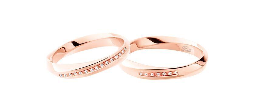 Fede oro rosa con diamanti