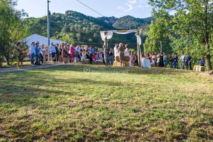 La cerimonia nel parco