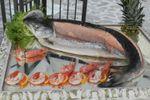 Salmone e gamberetti