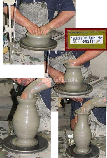 Umberto Goretti lavorazione argilla